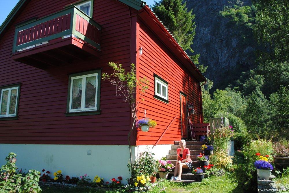 Обычный сельский домик в Норвегии