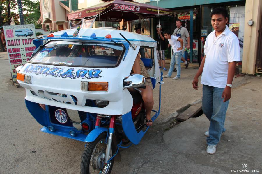 Эйден и его чудо техники - трицикл-такси