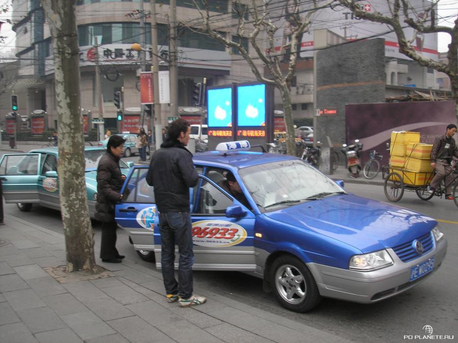 По центру Шанхая выгодно перемещаться на такси