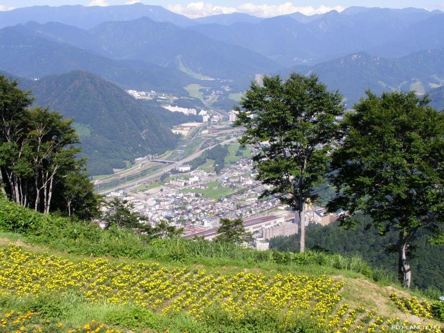 Вид на город Юдзава (префектура Ниигата)