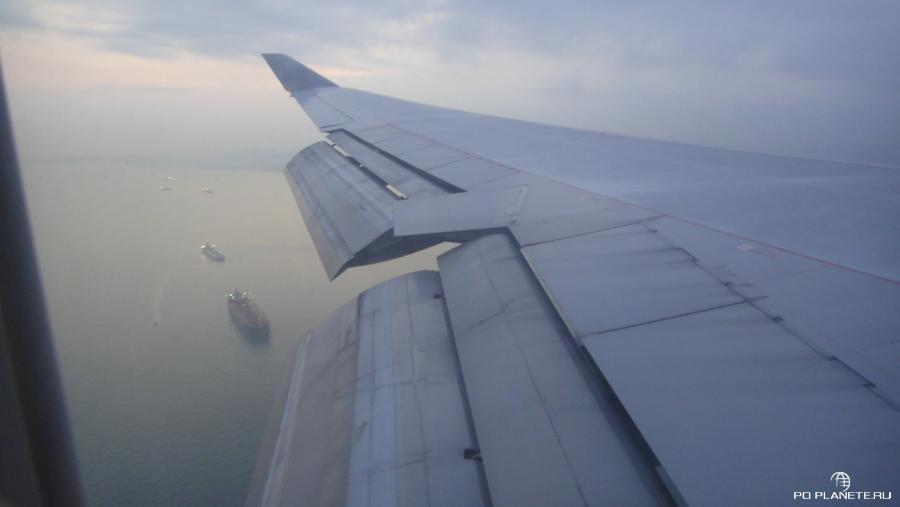 Подлетаем к сингапуру