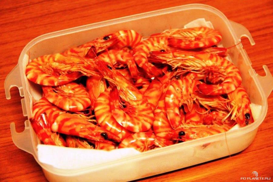 Знаменитые креветки с острова Кумэ