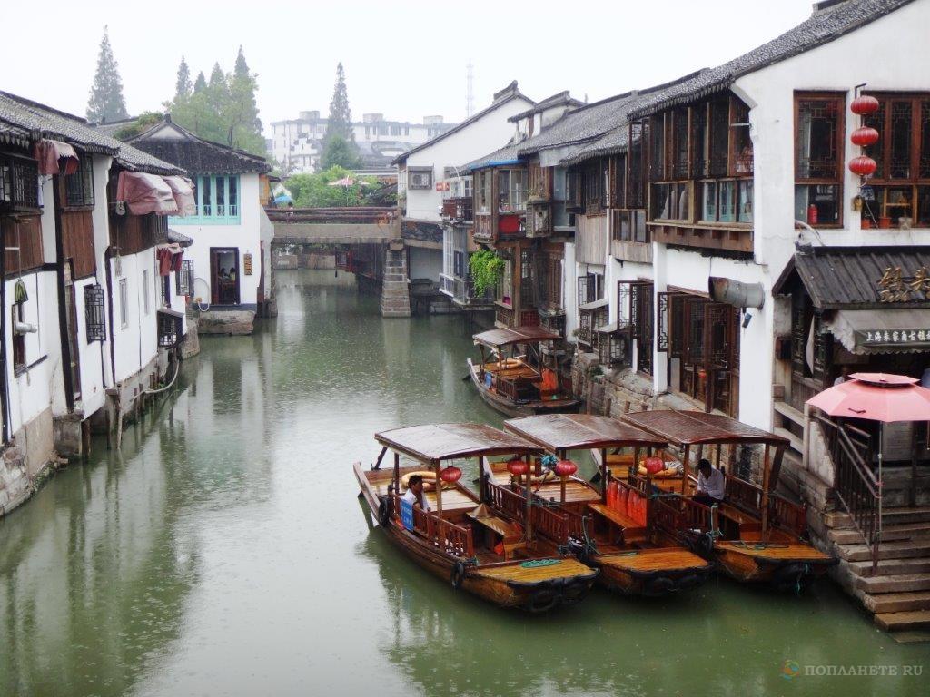 Прогулки по Шанхаю. Древний город на воде Чжу Цзя Цзяо