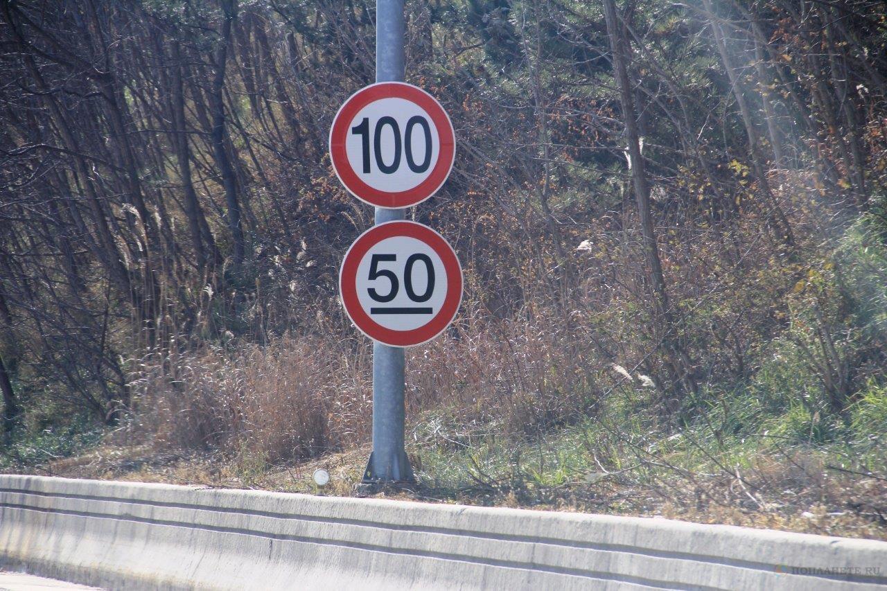 Знак ограничения скоростного режима