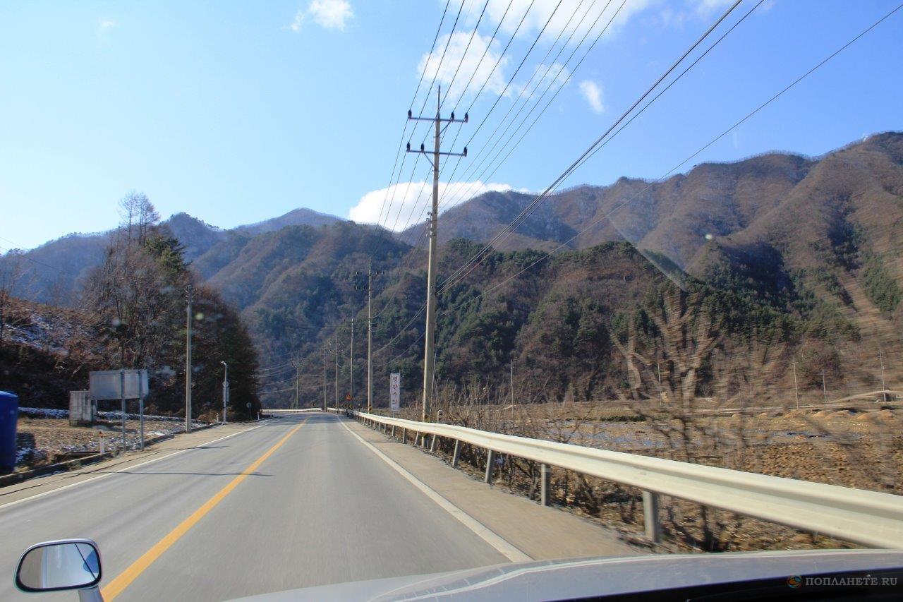 Дорога в корейской глубинке